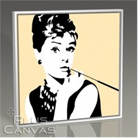 Pluscanvas - Audrey Hepburn - Pop Art Iıı Tablo