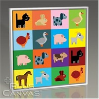 Pluscanvas - Colored Animals Tablo