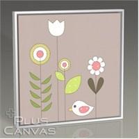 Pluscanvas - Bird And Flowers Tablo