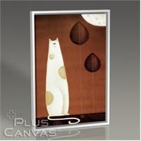 Pluscanvas - White Cat Tablo