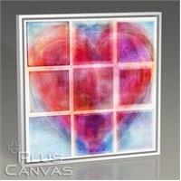 Pluscanvas - Splitted Heart Tablo