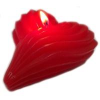 Kalp Şeklinde Kırmızı Renkli Aşk Mumu