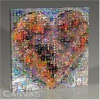 Pluscanvas - Heart Collage Tablo