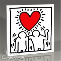 Pluscanvas - Keith Haring - Love Tablo