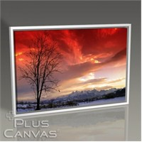Pluscanvas - Red Sky Panorama Tablo
