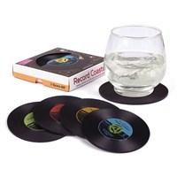 Plak Bardak Altlığı - Vinyl Style Silicone Coasters