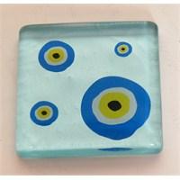 Mavi Nazar Boncuklu Mutfak - Banyo Gider Süsü
