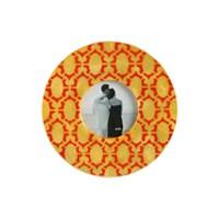 Turuncu Oval Zincir Model Fotoğraf Çerçevesi