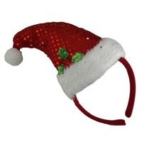 Pullu Yılbaşı Şapka Taç Kırmızı