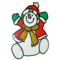 Kardan Adam Cam Dekoru Süsü Yılbaşı Stickerı