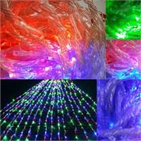 Karışık Renkli Cephe Yağmur Damlası Işık 2,5 - 2 Metre