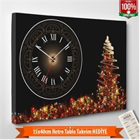 Tabloshop - Yılbaşı Özel Saat - Yb-16 - 45X30cm - Takvim Hediye