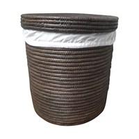 Çamaşır Sepeti Kahverengi Palmiye Ağacı İçi Kumaşlı