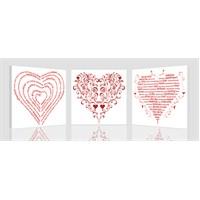 Yazılı Kalpler Kanvas Tablo
