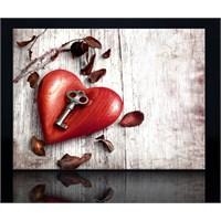 Kalp ve Anahtar Kanvas Tablo