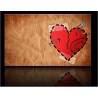 Kırık Kalp Kanvas Tablo