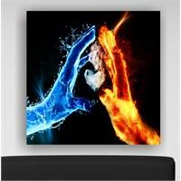 Su ve Ateş Kanvas Tablo