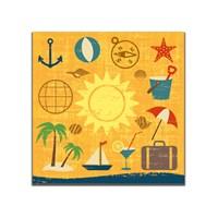 Dolce Home Retro Güneş Baskılı Tablo 52