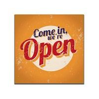 Dolce Home Retro Come in We're Open Tablo 34