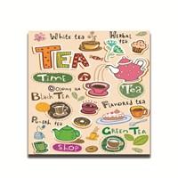 Dolce Home Dekoratif Çay Saati Temalı Tablo
