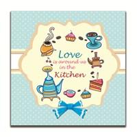 Dolce Home Dekoratif Aşk Mutfakta Tablosu