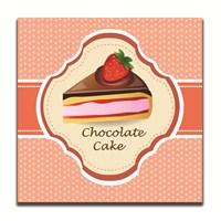 Dolce Home Dekoratif Çikolatalı Kek Tablosu