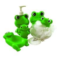 Biricik 5'li Kurbağa Bebek Banyo Seti