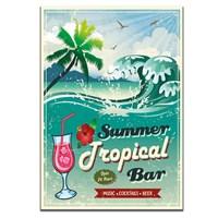 Dolce Home Retro Summer Tropical Tablo 53