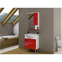 Bestline İnka 65 cm Kırmızı Banyo Dolabı