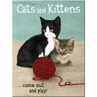 Cats And Kittens Magnet
