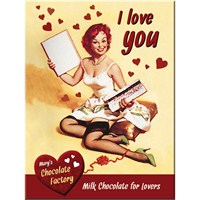 I Love You Chocolate Magnet