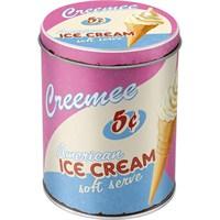 Ice Cream Yuvarlak Teneke Saklama Kutusu