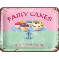 Fairy Cakes Metal Kabartmalı Duvar Panosu