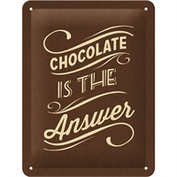 Chocolate İs The Answer Metal Kabartmalı Pin Up Duvar Panosu