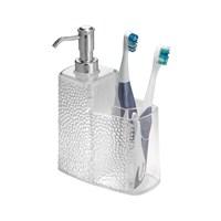 Rain Model Akrilik Sıvı Sabunluk ,Diş Fırçalık Kombine Model