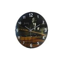Mustafa Kemal Atatürk Temalı Bombeli Cam Saat