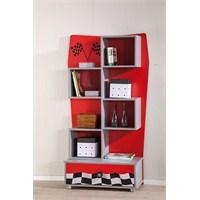 Ralli Kırmızı Çocuk Odası Kitaplık