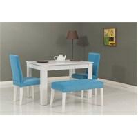 Mobetto Hanımeli Masa+ Sandalye Seti Mavi