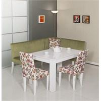 Moda Life Mobetto Nilüfer Mutfak Köşe Takımı Yeşil (Köşe+Masa+2 Adet Sandalye)