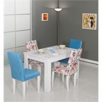 Moda Life Mobetto Manolya Masa Seti Mavi (Masa+4Adet Sandalye)