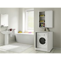 Bestline Mine Çamaşır Makinası Dolabı Seti (Beyaz)