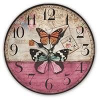 Mdf Kelebekler Desenli Duvar Saati