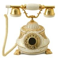 Tombul Beyaz Varaklı Zirkon Taşlı Telefon