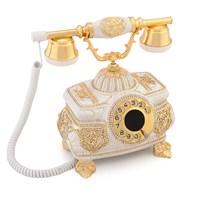 Kristal Beyaz Varaklı Swarovski Taşlı Telefon