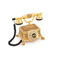 Şato Altın Varaklı Zirkon Taşlı Telefon