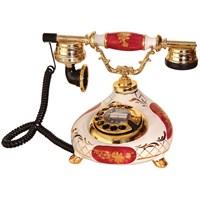 Porselen Damla Bordo Beyaz Telefon