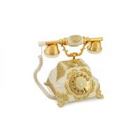Şehrazat Antik Beyaz Altın Varaklı Telefon