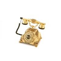 Şehrazat Antik Altın Varaklı Telefon