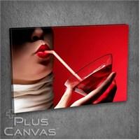 Pluscanvas - Red Lips Iıı Tablo