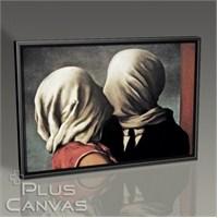Pluscanvas - Rene Magritte - Lovers Tablo